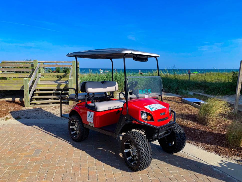 Lifted 4 Passenger Golf Cart Myrtle Beach