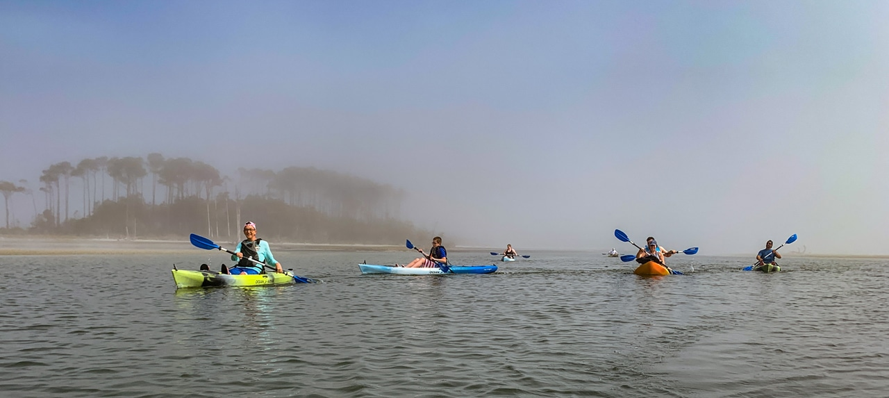 Kayaking From Waties Island
